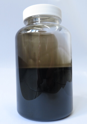 Used oil in a container