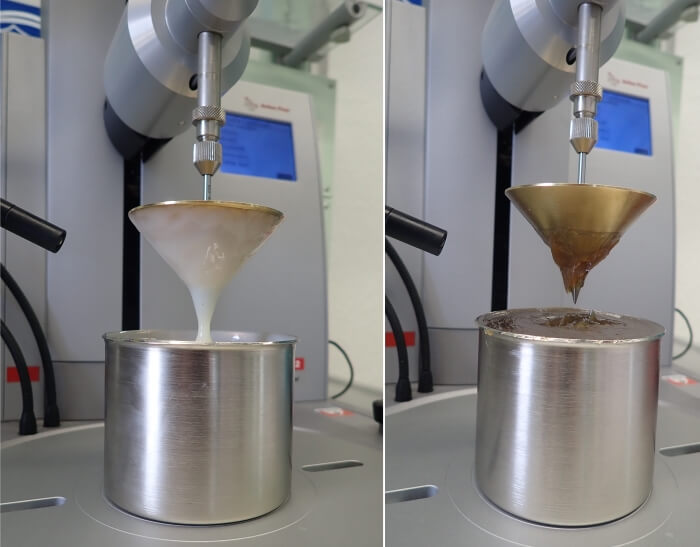 Cone penetration different greases