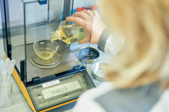 Additives were added to oil in the laboratory