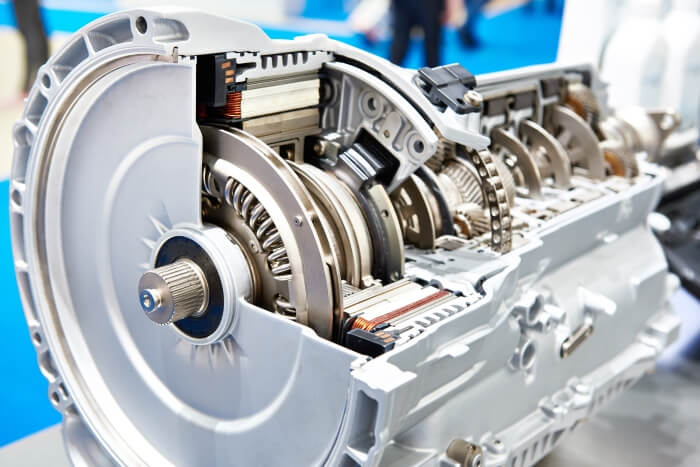 Automatic transmission of a hybrid car